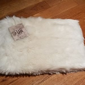 NWT Restoration Hardware faux fur pouch